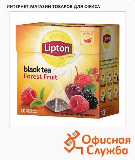 фото: Чай Lipton Forest Fruit черный, в пирамидках, 20 пакетиков