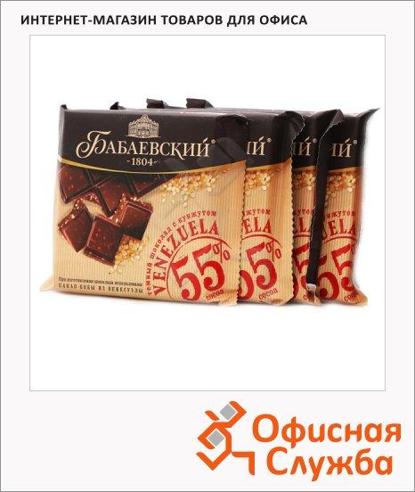 Шоколад Бабаевский Уганда темный, 4штх90г, с кунжутом