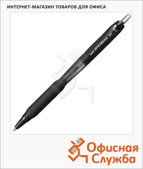 Ручка шариковая автоматическая Uni Jetstream SXN-101 черная, 0.7мм