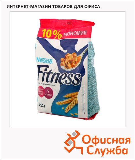 фото: Готовый завтрак Fitness хлопья из цельной пшеницы 250г, пакет