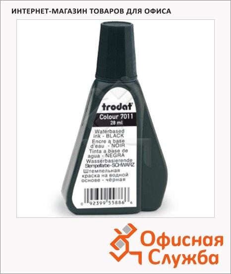 Штемпельная краска на водной основе Trodat 28мл, 7011, черная