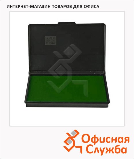 Штемпельная настольная подушка Trodat 160х90мм, краска на водной основе, зеленая