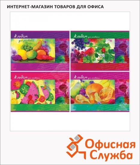 Альбом для рисования Bg Натюрморт, А4, 100 г/м2, 40 листов, на скрепке