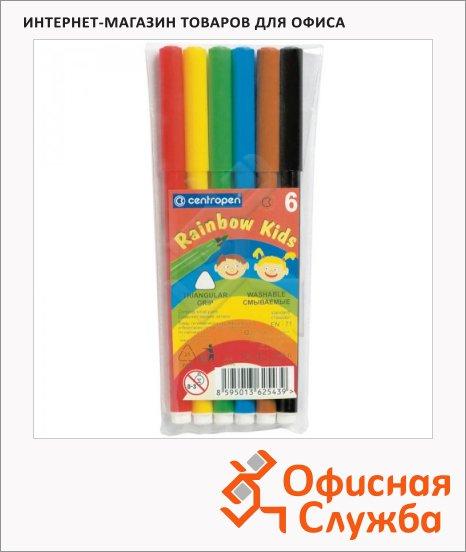 фото: Фломастеры для рисования Centropen Rainbow Kids 6 цветов смываемые