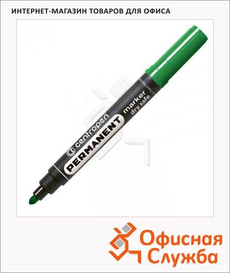 Маркер перманентный Centropen 8510 зелёный, 2.5мм, пулевидный наконечник