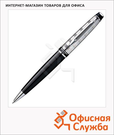 фото: Ручка шариковая Waterman Expert Deluxe Black CT 1мм черный/серебристый корпус, S0952360