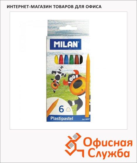 фото: Набор восковых карандашей Milan 6 цветов