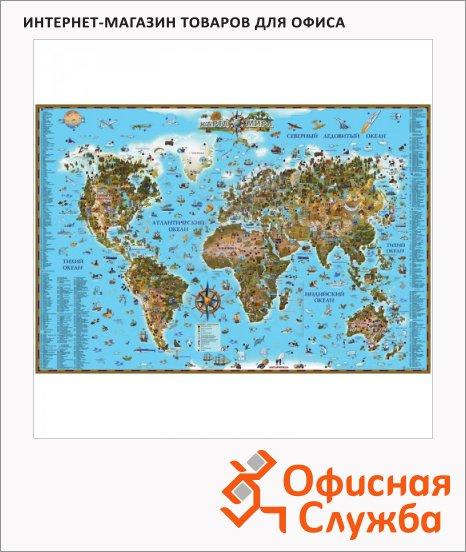 фото: Карта настенная Dmb Мир 116х79см для детей