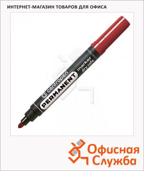 фото: Маркер перманентный Centropen 8510 красный 2.5мм, пулевидный наконечник