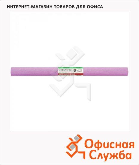 Бумага крепированная Greenwich Line светло-сиреневая, 50х250см, 32 г/м2