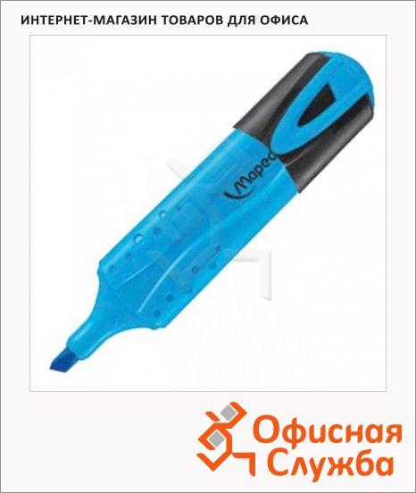 Текстовыделитель Maped Fluo Pep's Classic голубой, 1-5мм, скошенный наконечник
