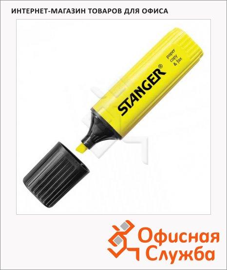 Текстовыделитель Stanger желтый, 1-5мм, скошенный наконечник