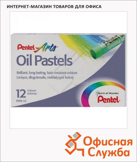 Пастель художественная Pentel Arts Oil Pastels 12 цветов, масляная