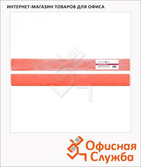 Бумага крепированная Greenwich Line коралловая, 50х200см, 22 г/м2, флуоресцентная, мелованная