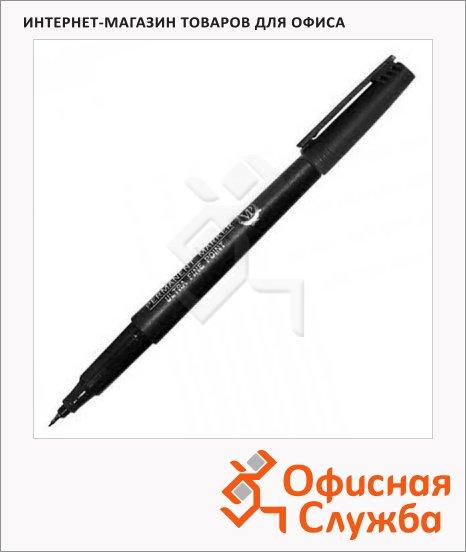 Маркер перманентный Line Plus 200UF чёрный, 0.5мм, пулевидный наконечник