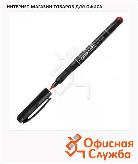фото: Маркер перманентный Centropen OHP красный 1мм, пулевидный наконечник