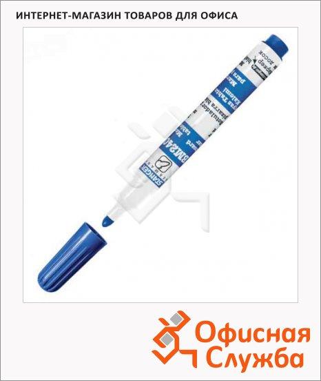 Маркер для досок Stanger BM240 синий, 1-3мм, пулевидный наконечник