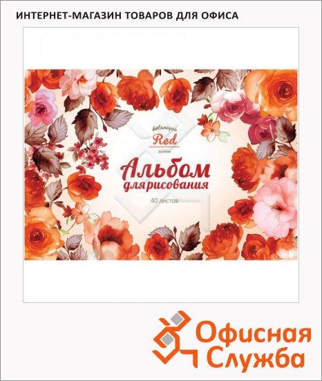 Альбом для рисования Artspace Цветы Sweet flower, А4, 100г/м2, 40 листов, на спирали