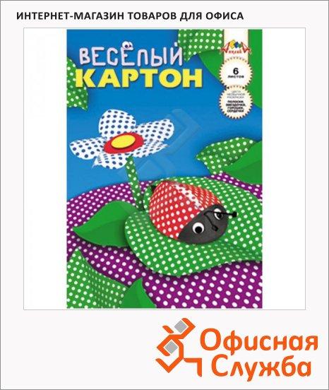 фото: Цветной картон Апплика Веселый 6 цветов горошек