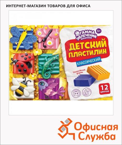Пластилин Гамма Увлечений Классический 12 цветов, 240г