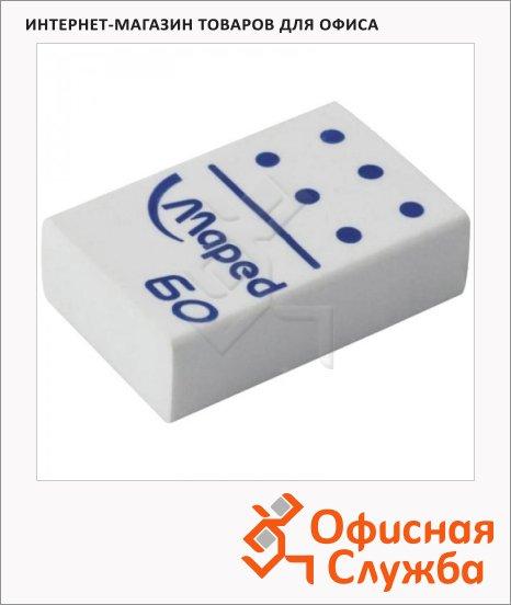 Ластик Maped Domino 60 28х19х8.8мм, белый, 511260
