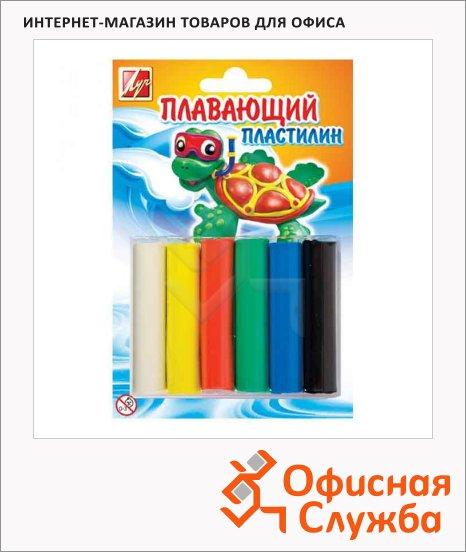 Пластилин Луч 6 цветов, плавающий