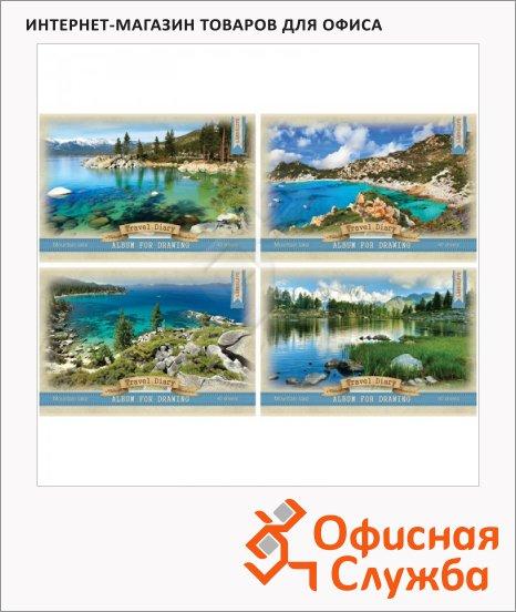 фото: Альбом для рисования Bg Дневник путешествий А4, 100 г/м2, 40 листов, на скрепке