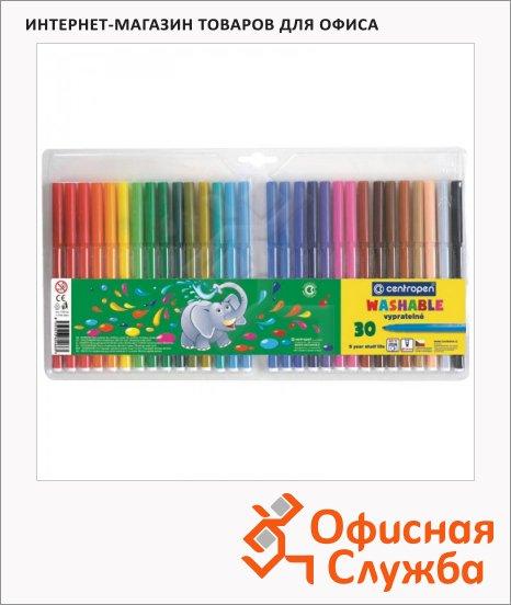 фото: Фломастеры для рисования Centropen Слонята 7790 30 цветов смываемые