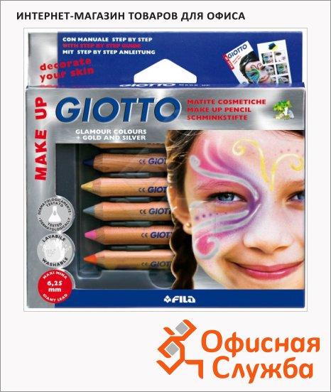 фото: Карандаши для грима Giotto Make Up Glamour 6 цветов