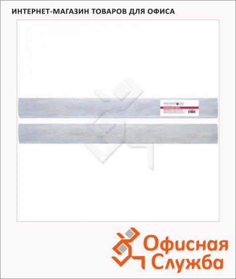 фото: Бумага крепированная Greenwich Line серебряная 50х100см, 60 г/м2, металлик