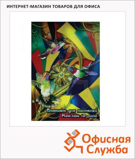 фото: Папка для рисования Лилия Холдинг Калейдоскоп А4 200г/м2, 20 листов, тонированная, 4 цвета