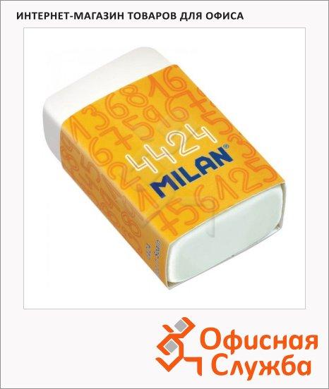 Ластик Milan 4424 39х23х13мм, прямоугольный, синтетический каучук, картонный держатель