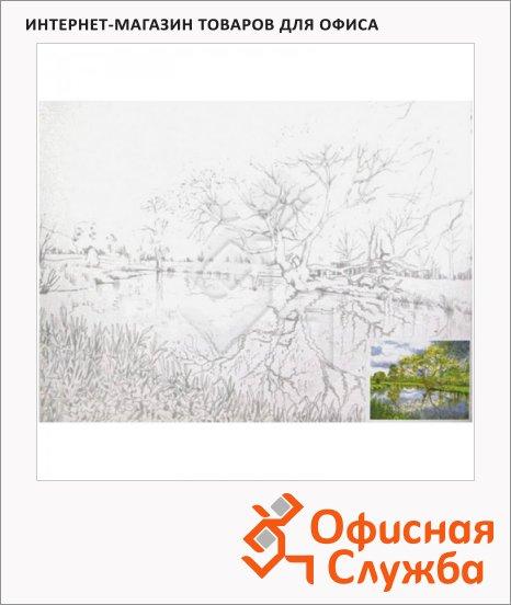 Холст грунтованный Невская Палитра 30х40см, 280 г/м2, хлопок, с контуром Пейзаж