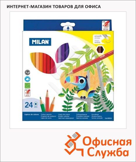 Набор цветных карандашей Milan 211 24 цвета, 80024