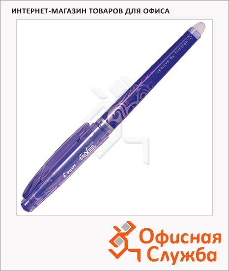 фото: Ручка гелевая стираемая Pilot Frixion Рoint BL-FRP5 фиолетовая 0.5мм, с ластиком, 0.7мм