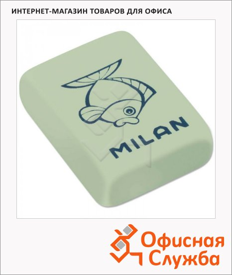 Ластик Milan 445 Звери 31х23х7мм, прямоугольный, синтетический каучук