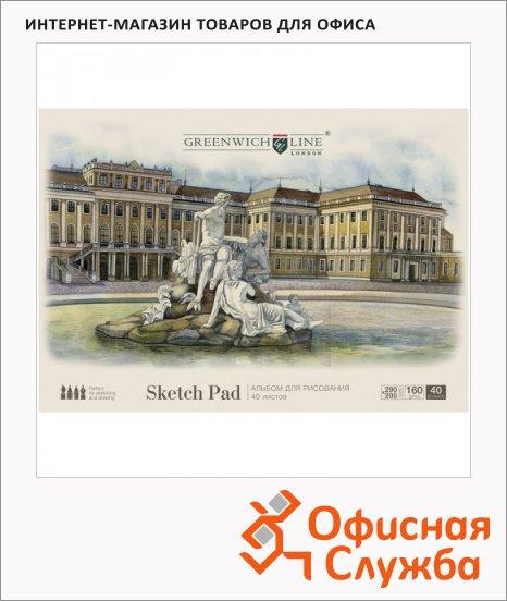 Альбом для рисования Greenwich Line Город, А4, 160 г/м2, на склейке, 40 листов