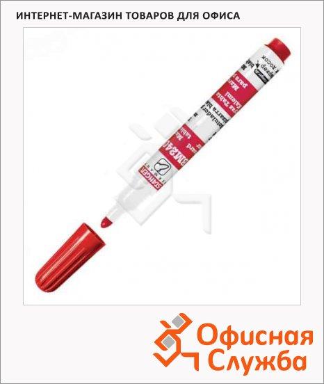 Маркер для досок Stanger BM240 красный, 1-3мм, пулевидный наконечник