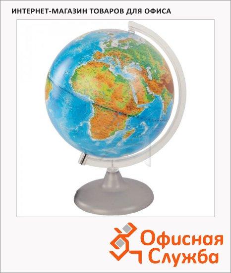 Глобус физико-политический Глобусный Мир 25см, с подсветкой, на круглой подставке
