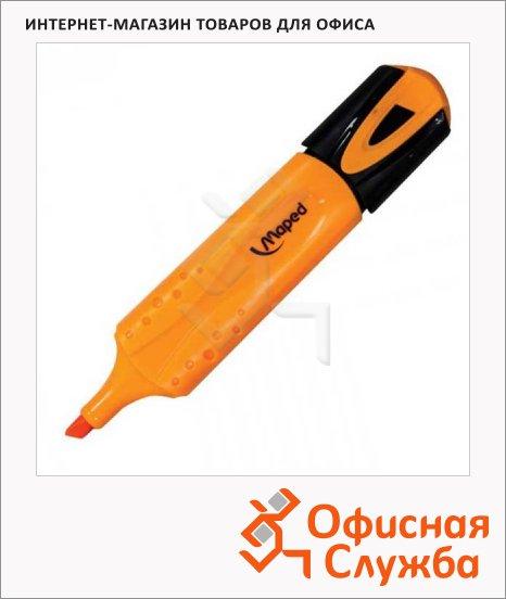 Текстовыделитель Maped Fluo Pep's Classic оранжевый, 1-5мм, скошенный наконечник
