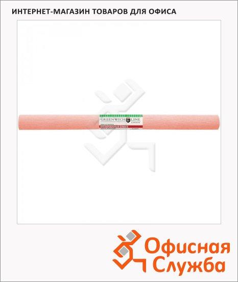 Бумага крепированная Greenwich Line персиковая, 50х250см, 32 г/м2