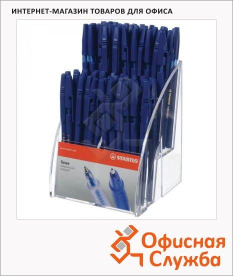 Набор ручек шариковых Stabilo Liner 808 синяя, 0.7мм, 80шт, дисплей