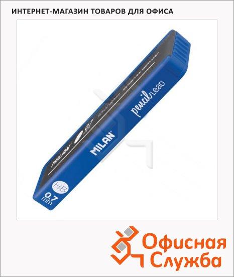 Грифели для механических карандашей Milan 1851071512 HB, 0.7мм