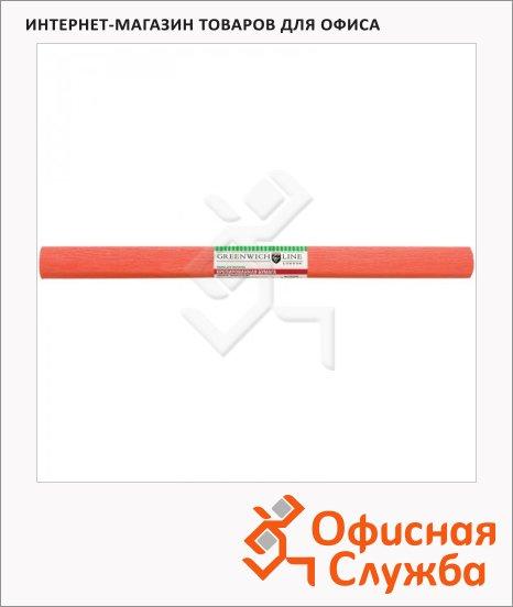 Бумага крепированная Greenwich Line лосось, 50х250см, 32 г/м2