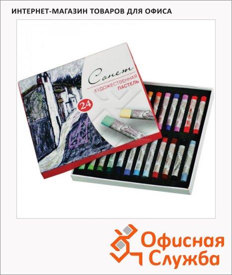 фото: Пастель художественная Невская Палитра Сонет 24 цвета сухая
