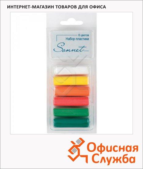 фото: Набор пластики Невская Палитра Сонет 6 цветов 120г, фруктовые цвета