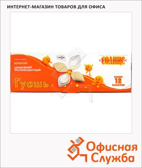 Гуашь Гамма Оранжевое солнце 12 цветов х 20мл