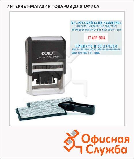фото: Датер самонаборный Colop Printer 6 строк 60x40мм, 4/2.2 и 3.1мм, 55 Dater Set