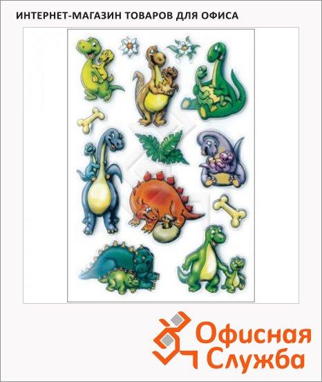 Наклейки декоративные детские Herma Magic 3D Динозаврики, 16х9см, объемные