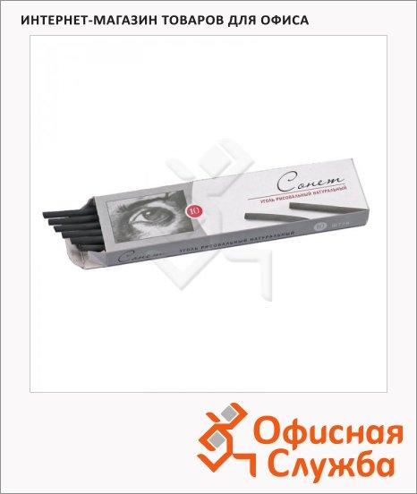 фото: Уголь для рисования Невская Палитра Сонет 170мм 4-6мм, 10шт